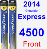 Front Wiper Blade Pack for 2014 Chevrolet Express 4500 - Hybrid