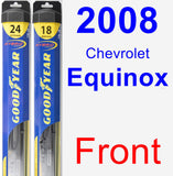 Front Wiper Blade Pack for 2008 Chevrolet Equinox - Hybrid