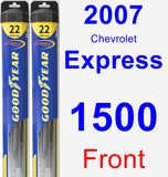 Front Wiper Blade Pack for 2007 Chevrolet Express 1500 - Hybrid