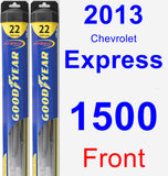 Front Wiper Blade Pack for 2013 Chevrolet Express 1500 - Hybrid