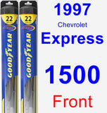 Front Wiper Blade Pack for 1997 Chevrolet Express 1500 - Hybrid