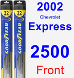 Front Wiper Blade Pack for 2002 Chevrolet Express 2500 - Hybrid