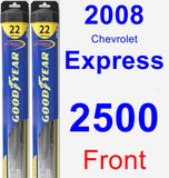 Front Wiper Blade Pack for 2008 Chevrolet Express 2500 - Hybrid