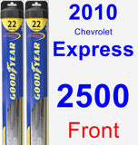 Front Wiper Blade Pack for 2010 Chevrolet Express 2500 - Hybrid