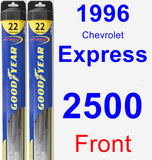 Front Wiper Blade Pack for 1996 Chevrolet Express 2500 - Hybrid