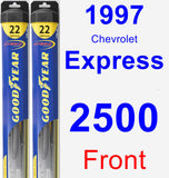 Front Wiper Blade Pack for 1997 Chevrolet Express 2500 - Hybrid