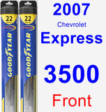 Front Wiper Blade Pack for 2007 Chevrolet Express 3500 - Hybrid