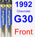 Front Wiper Blade Pack for 1992 Chevrolet G30 - Hybrid