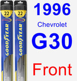 Front Wiper Blade Pack for 1996 Chevrolet G30 - Hybrid