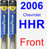 Front Wiper Blade Pack for 2006 Chevrolet HHR - Hybrid