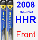 Front Wiper Blade Pack for 2008 Chevrolet HHR - Hybrid