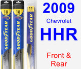 Front & Rear Wiper Blade Pack for 2009 Chevrolet HHR - Hybrid