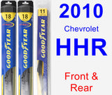 Front & Rear Wiper Blade Pack for 2010 Chevrolet HHR - Hybrid