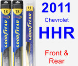 Front & Rear Wiper Blade Pack for 2011 Chevrolet HHR - Hybrid