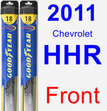 Front Wiper Blade Pack for 2011 Chevrolet HHR - Hybrid