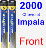 Front Wiper Blade Pack for 2000 Chevrolet Impala - Hybrid