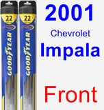 Front Wiper Blade Pack for 2001 Chevrolet Impala - Hybrid