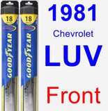 Front Wiper Blade Pack for 1981 Chevrolet LUV - Hybrid