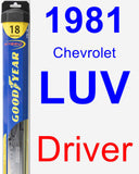 Driver Wiper Blade for 1981 Chevrolet LUV - Hybrid