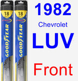 Front Wiper Blade Pack for 1982 Chevrolet LUV - Hybrid