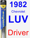 Driver Wiper Blade for 1982 Chevrolet LUV - Hybrid