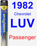 Passenger Wiper Blade for 1982 Chevrolet LUV - Hybrid