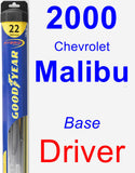 Driver Wiper Blade for 2000 Chevrolet Malibu - Hybrid