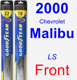 Front Wiper Blade Pack for 2000 Chevrolet Malibu - Hybrid