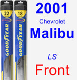 Front Wiper Blade Pack for 2001 Chevrolet Malibu - Hybrid