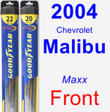 Front Wiper Blade Pack for 2004 Chevrolet Malibu - Hybrid