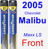 Front Wiper Blade Pack for 2005 Chevrolet Malibu - Hybrid