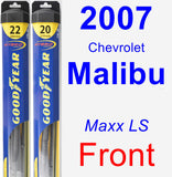 Front Wiper Blade Pack for 2007 Chevrolet Malibu - Hybrid