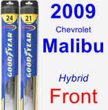 Front Wiper Blade Pack for 2009 Chevrolet Malibu - Hybrid