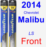 Front Wiper Blade Pack for 2014 Chevrolet Malibu - Hybrid