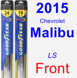 Front Wiper Blade Pack for 2015 Chevrolet Malibu - Hybrid