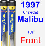 Front Wiper Blade Pack for 1997 Chevrolet Malibu - Hybrid