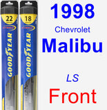 Front Wiper Blade Pack for 1998 Chevrolet Malibu - Hybrid