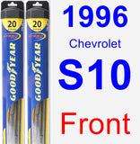 Front Wiper Blade Pack for 1996 Chevrolet S10 - Hybrid