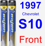 Front Wiper Blade Pack for 1997 Chevrolet S10 - Hybrid