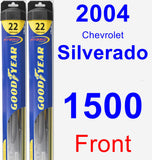 Front Wiper Blade Pack for 2004 Chevrolet Silverado 1500 - Hybrid