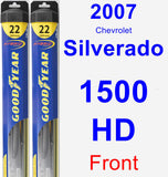 Front Wiper Blade Pack for 2007 Chevrolet Silverado 1500 HD - Hybrid