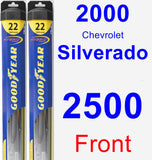 Front Wiper Blade Pack for 2000 Chevrolet Silverado 2500 - Hybrid