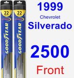 Front Wiper Blade Pack for 1999 Chevrolet Silverado 2500 - Hybrid