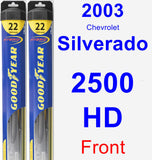 Front Wiper Blade Pack for 2003 Chevrolet Silverado 2500 HD - Hybrid