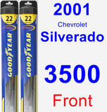 Front Wiper Blade Pack for 2001 Chevrolet Silverado 3500 - Hybrid