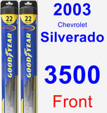 Front Wiper Blade Pack for 2003 Chevrolet Silverado 3500 - Hybrid