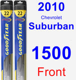 Front Wiper Blade Pack for 2010 Chevrolet Suburban 1500 - Hybrid