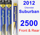 Front & Rear Wiper Blade Pack for 2012 Chevrolet Suburban 2500 - Hybrid