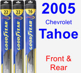 Front & Rear Wiper Blade Pack for 2005 Chevrolet Tahoe - Hybrid