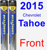 Front Wiper Blade Pack for 2015 Chevrolet Tahoe - Hybrid